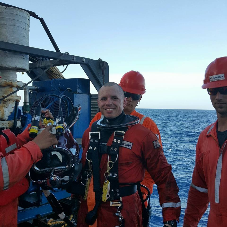DIT Grad Ed Meek Class 108 14 Diving Offshore Nick Helped Place Within A Month Of Graduation